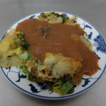 賴記雞蛋蚵仔煎 寧夏夜市で人気の牡蠣オムレツ